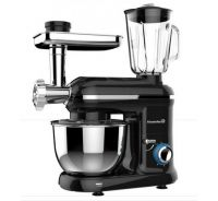 Robot de bucatarie multifunctional All-in-one Hausberg, 1500 w, mixer/blender/tocat carne, negru