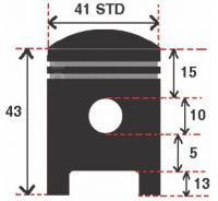 Pistoane Ad 50 41 mm STD Bolt 10